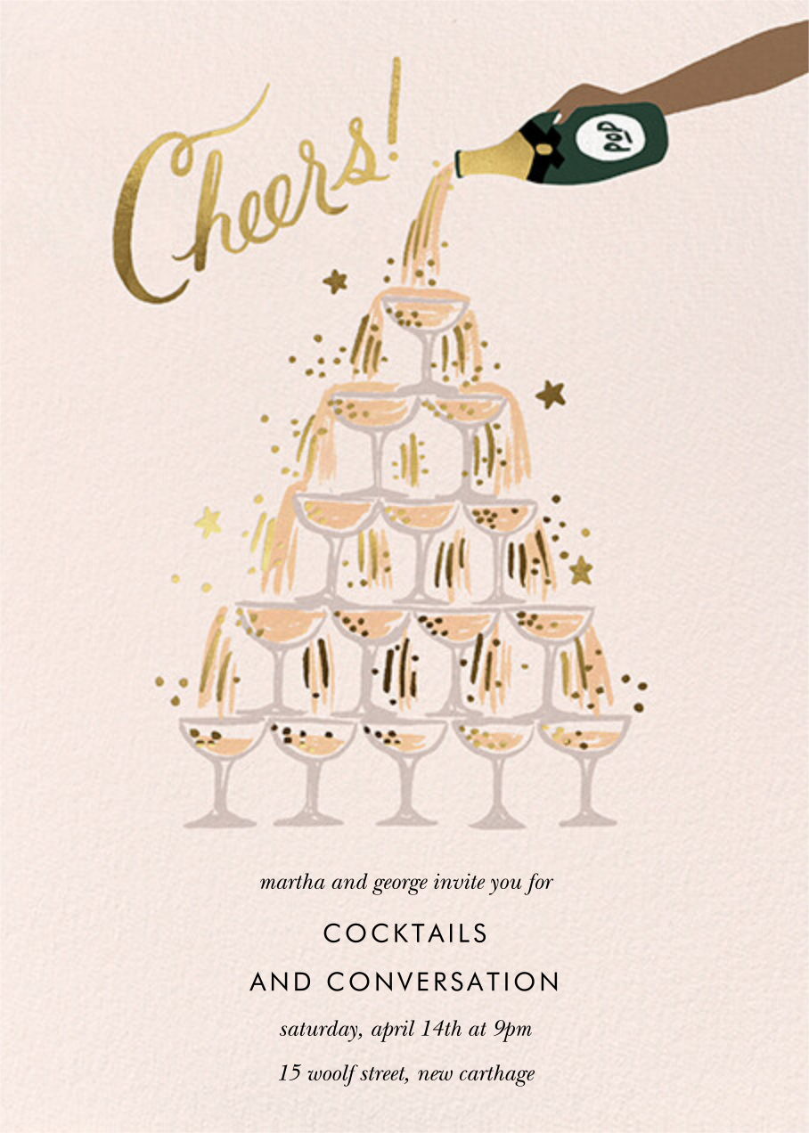 Champagne Tower - Tan - Rifle Paper Co. - General entertaining