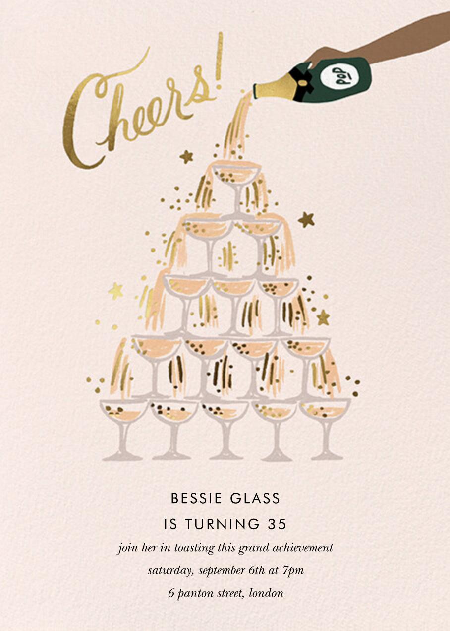 Champagne Tower - Tan - Rifle Paper Co. - Milestone