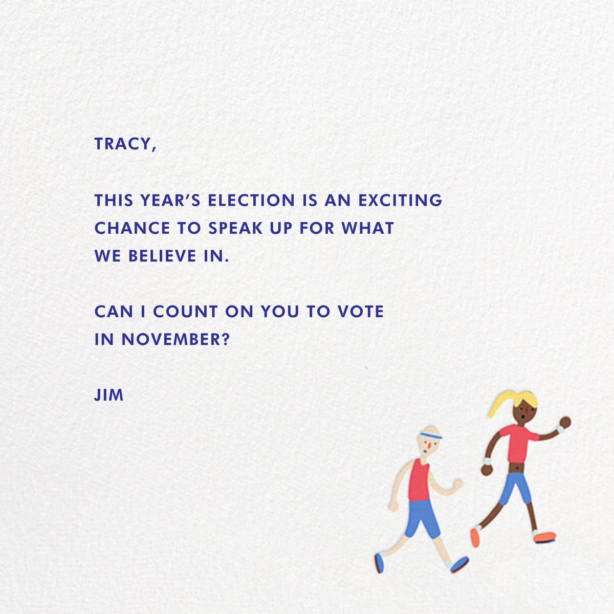 Go Vote - Hello!Lucky - Political action - card back