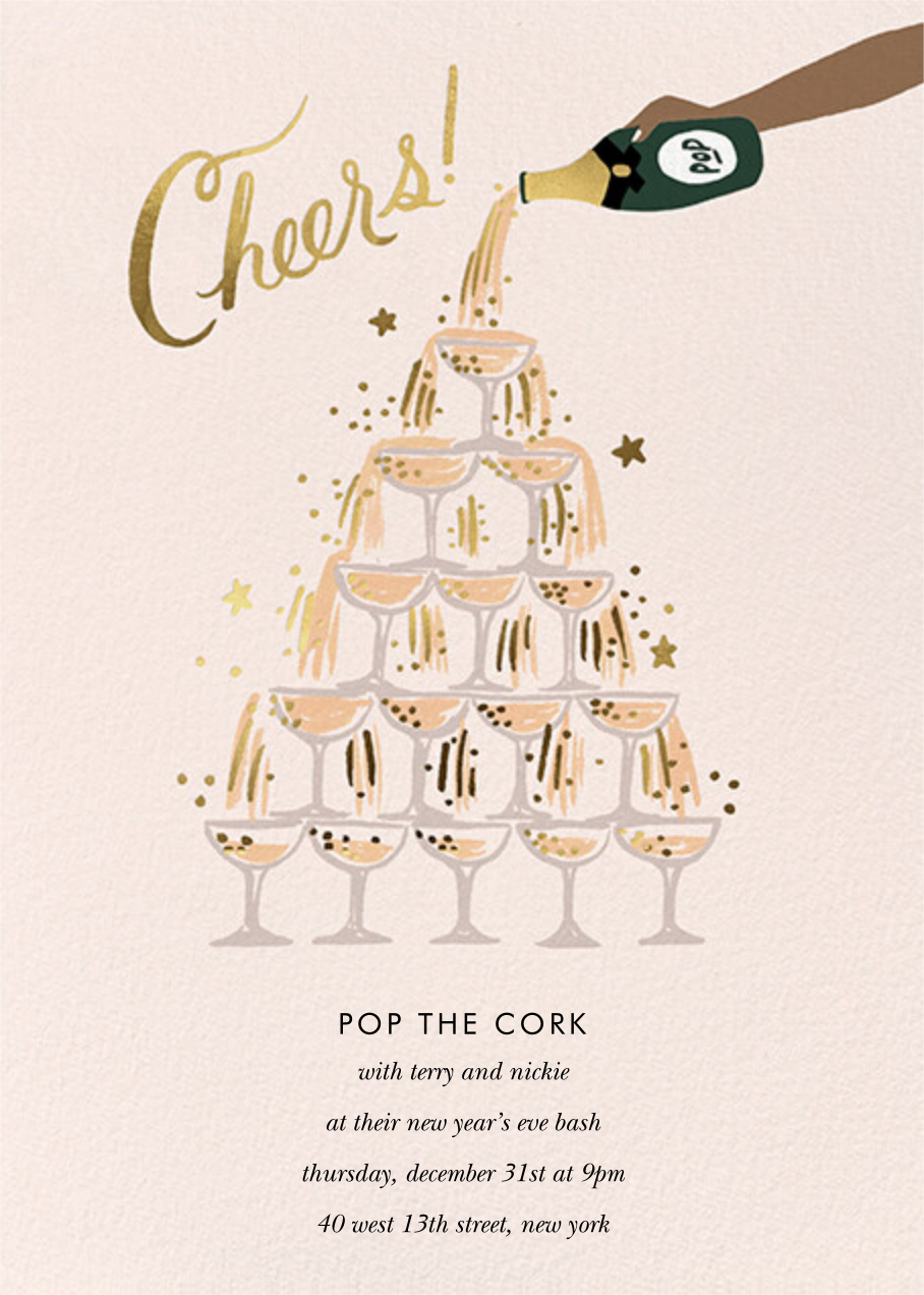 Champagne Tower - Deep - Rifle Paper Co. - New Year's Eve