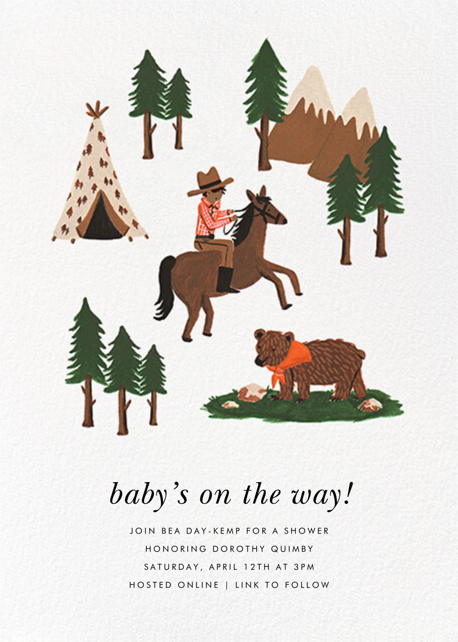 Go West - Tan - Rifle Paper Co. - Baby shower