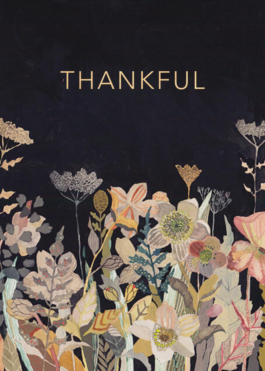 Winter Perennials (Michelle Morin) - Red Cap Cards - Thanksgiving