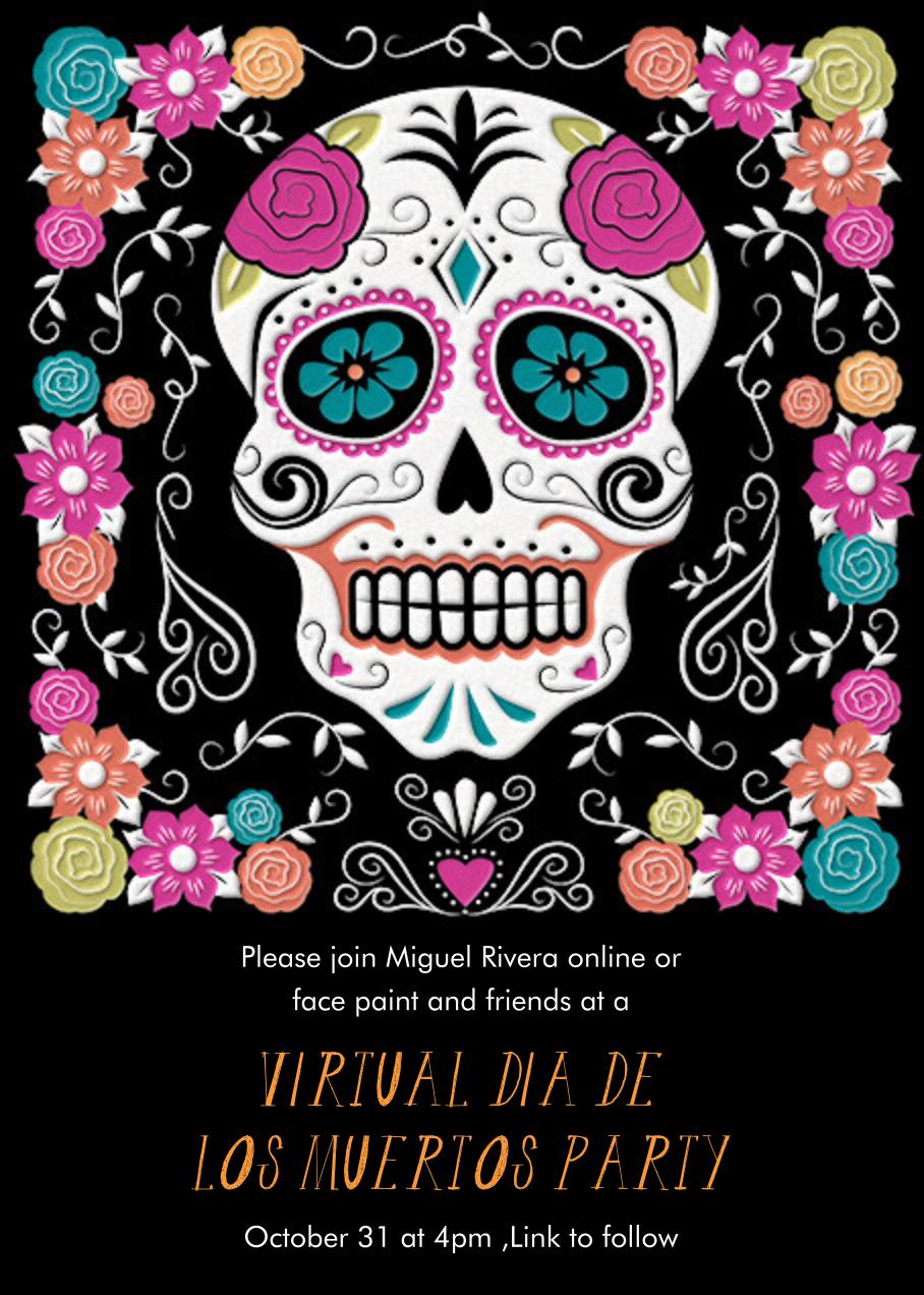 Floral Sugar Skull - Paper Source - Halloween