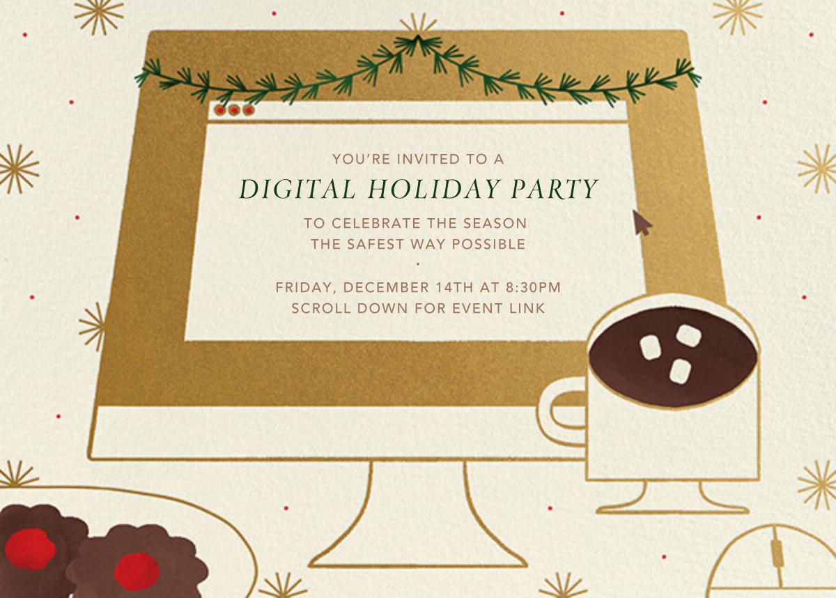 December Desktop - Paperless Post - Holiday party
