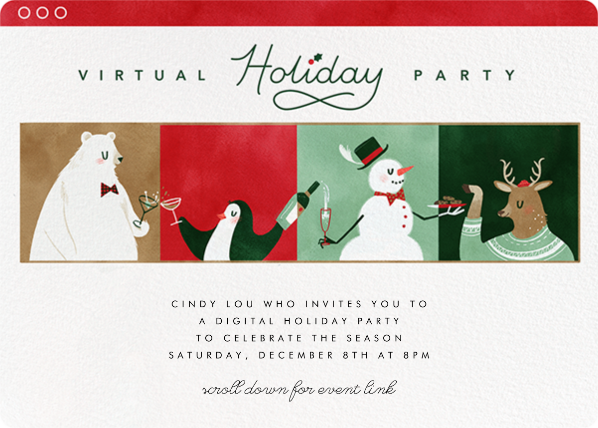 Share Your Screen - Paperless Post - Holiday party