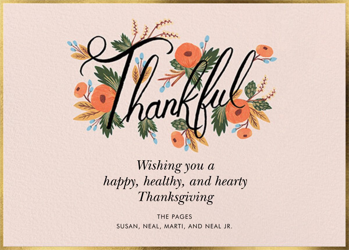 Thankful Bouquet - Rifle Paper Co. - Thanksgiving
