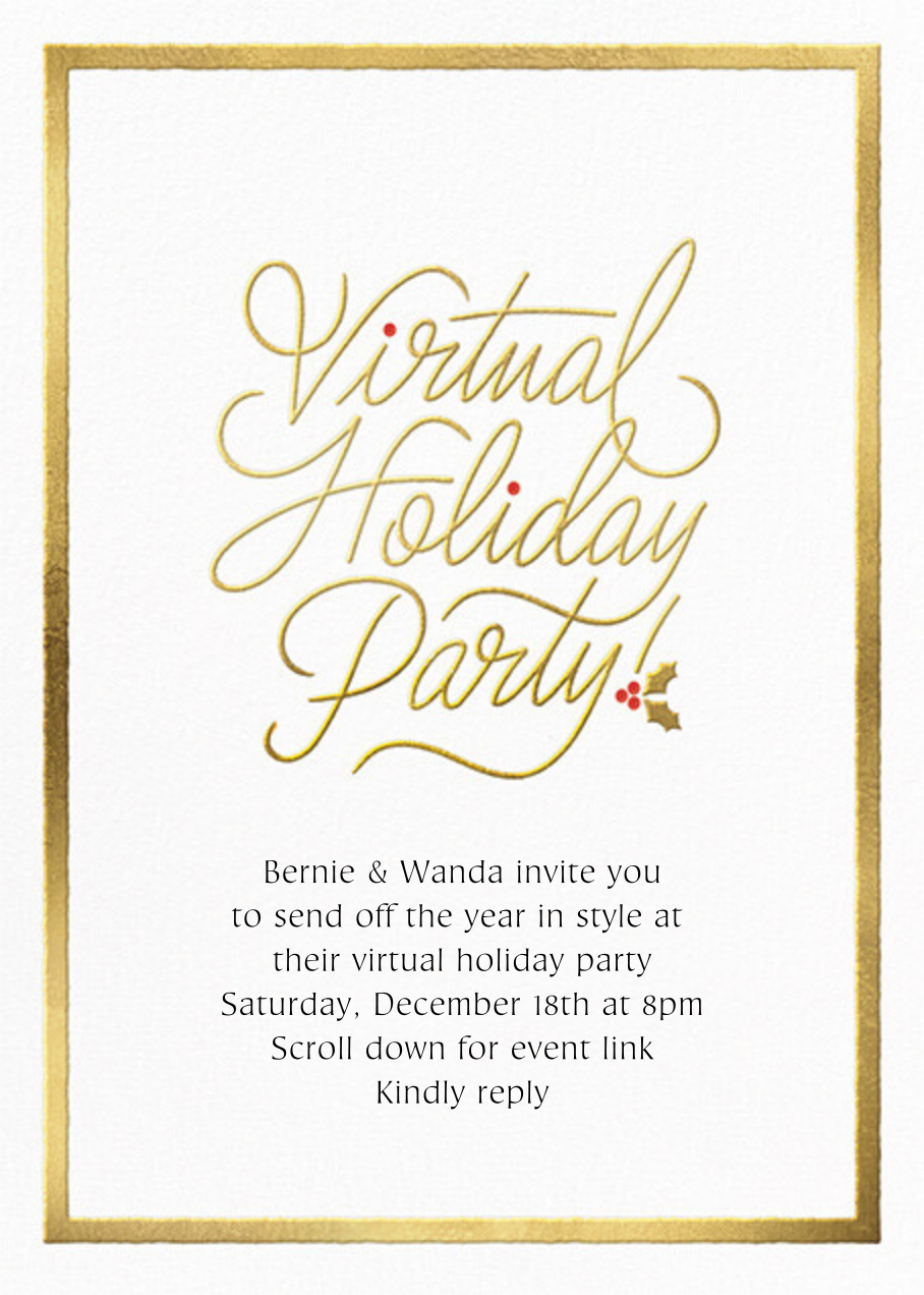 Spirited Script - Virtual - Paperless Post - Holiday party