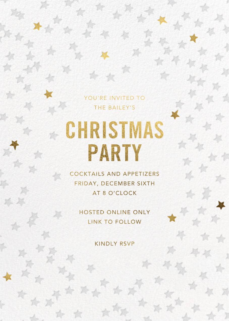 Starry Party - White - Sugar Paper - Holiday party