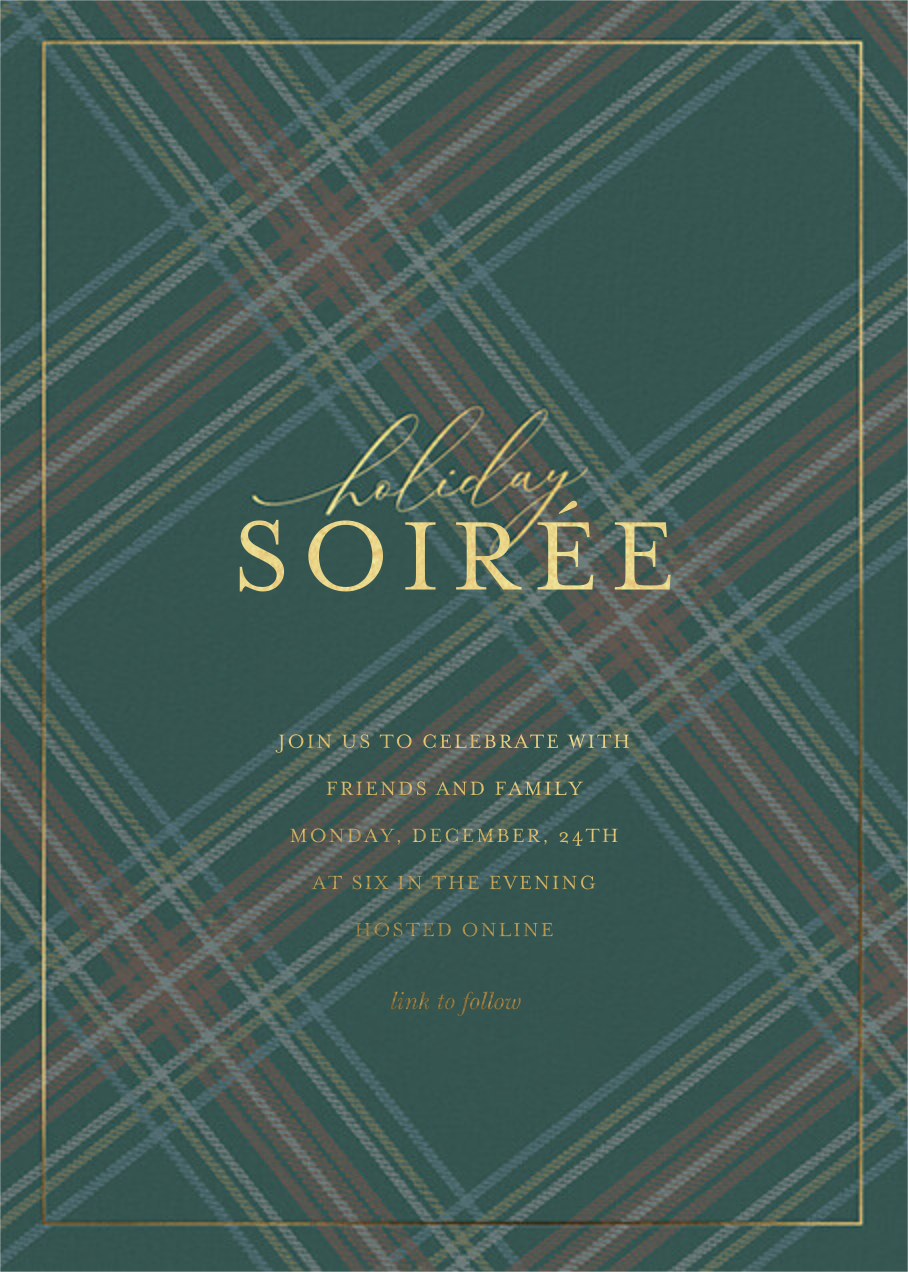 Tartan Soirée - Sugar Paper - Holiday party