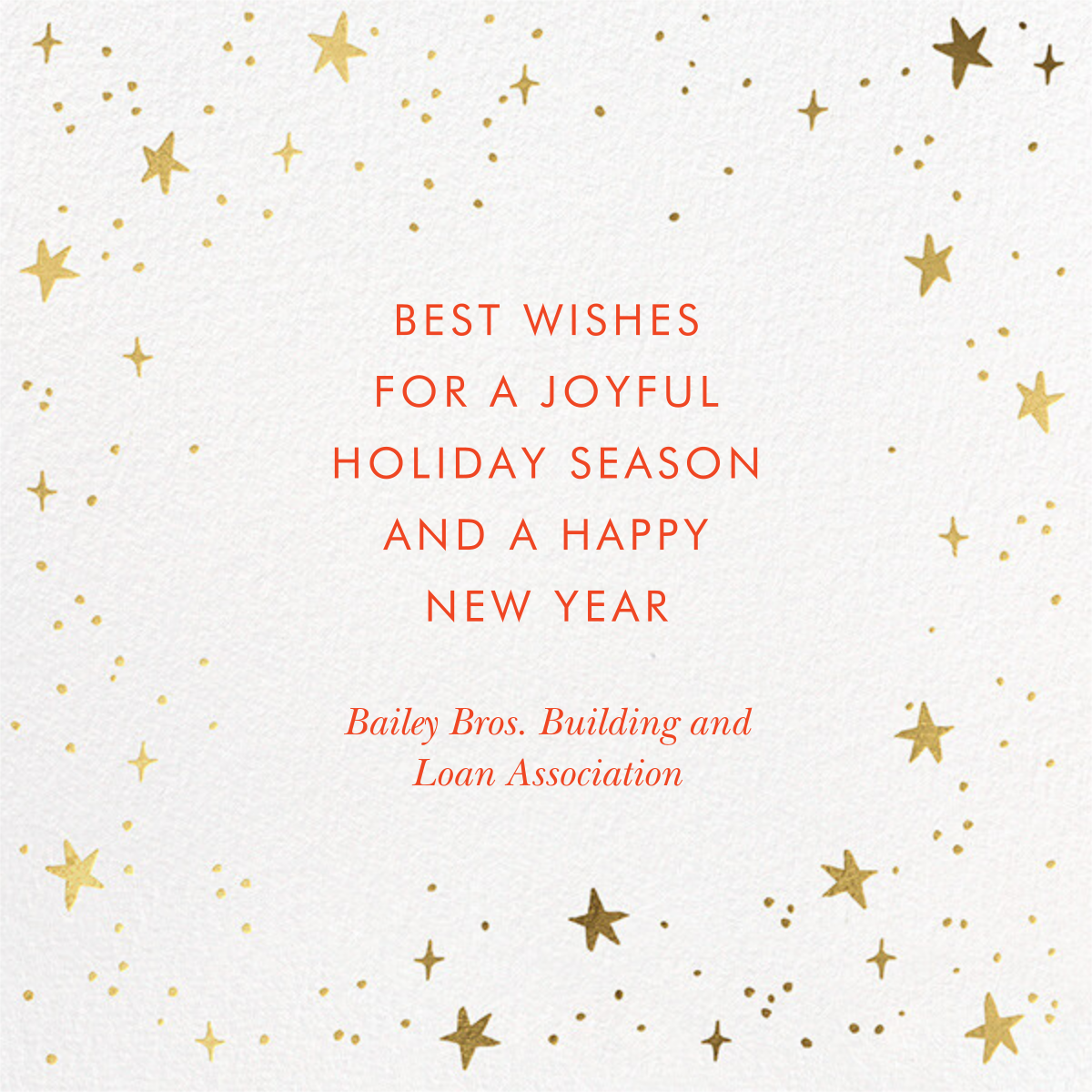 Merry and Bright Script - White - Rifle Paper Co. - Company holiday cards - card back