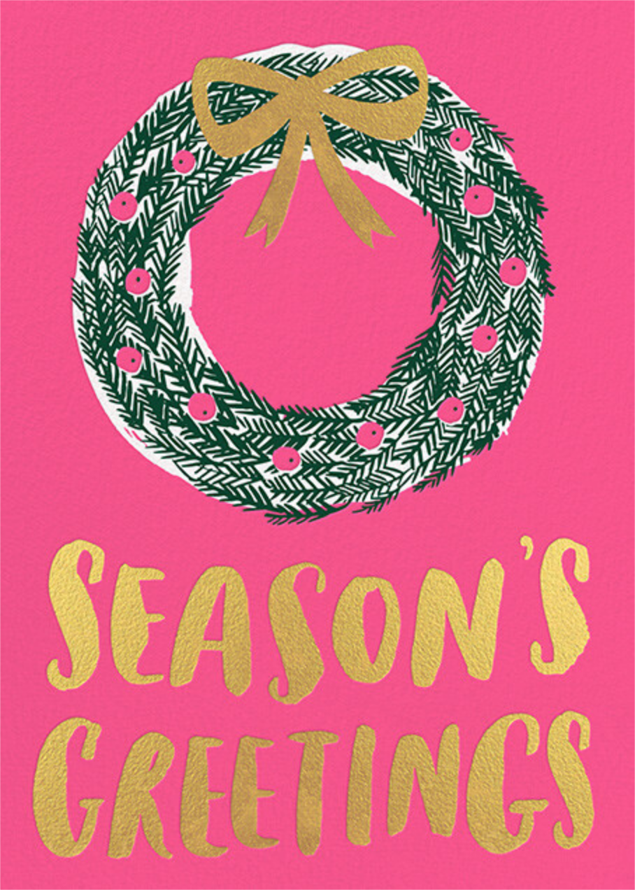 Berry Wreath - Hello!Lucky - Holiday cards