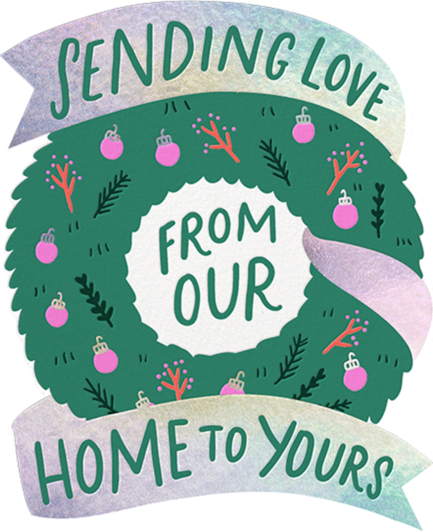 Trimmed Wreath - Hello!Lucky - Holiday cards