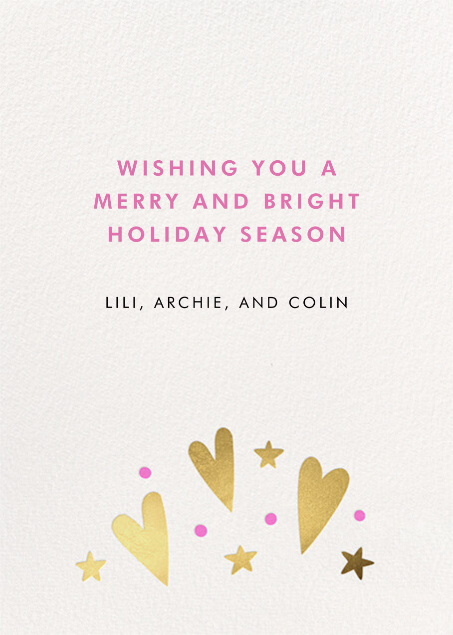Pining - Hello!Lucky - Holiday cards - card back