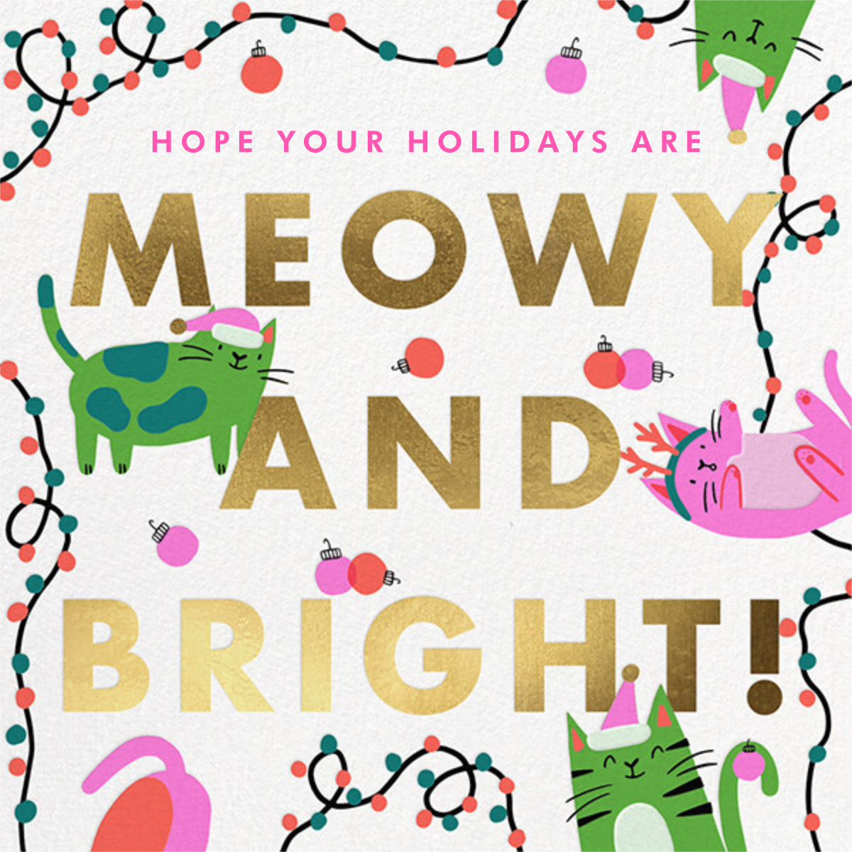 Bright Cats - Hello!Lucky - Holiday cards