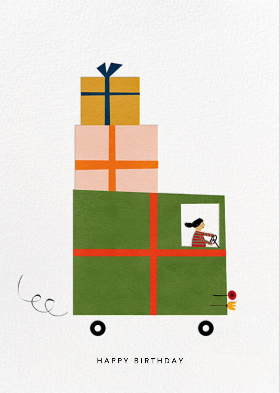 Gift Truck (Blanca Gómez) - Medium - Red Cap Cards - Birthday