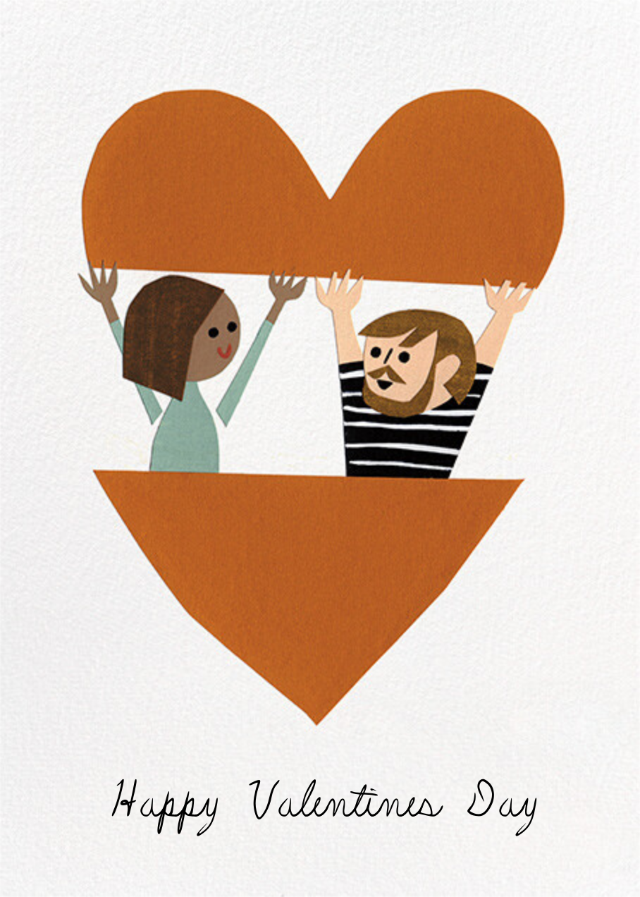 In Your Heart (Christian Robinson) - Tan/Fair - Red Cap Cards - Valentine's Day