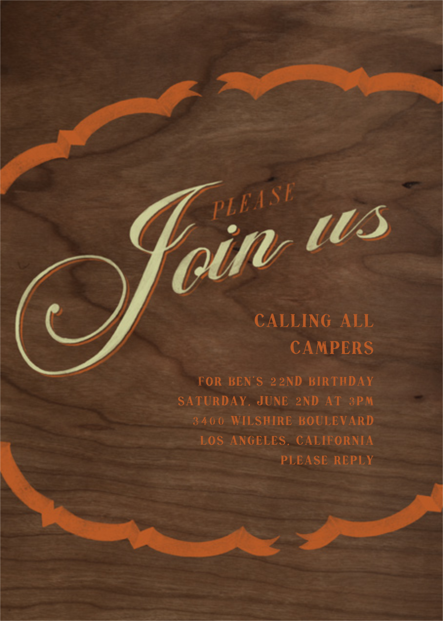 Please Join - Pumpkin Sage - Paperless Post - Adult birthday