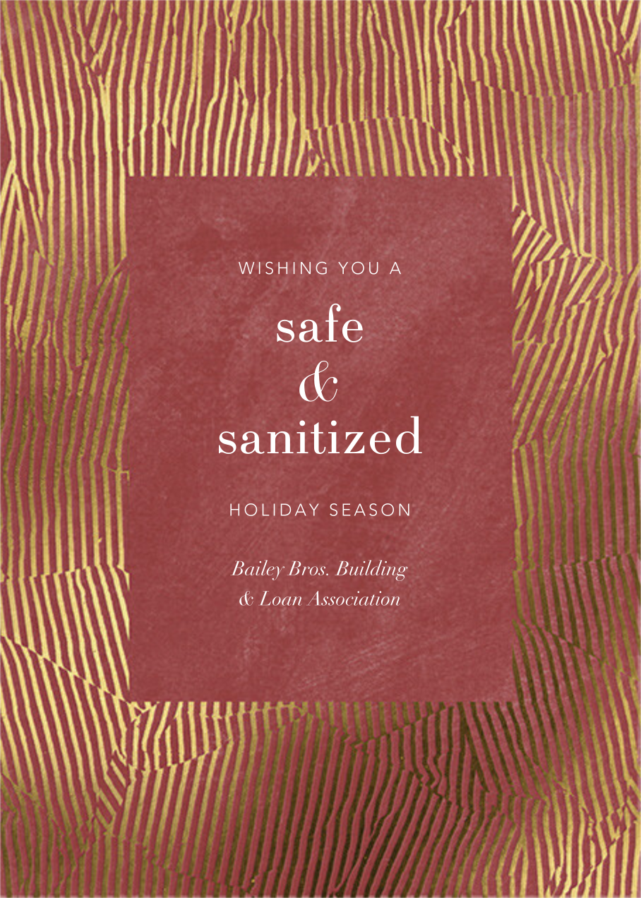 Avalon - Macaron - Kelly Wearstler - Business holiday cards