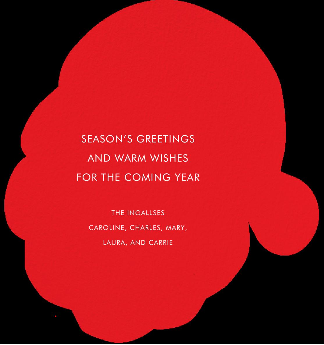 Santa's Satisfied - Deep - Meri Meri - Christmas - card back