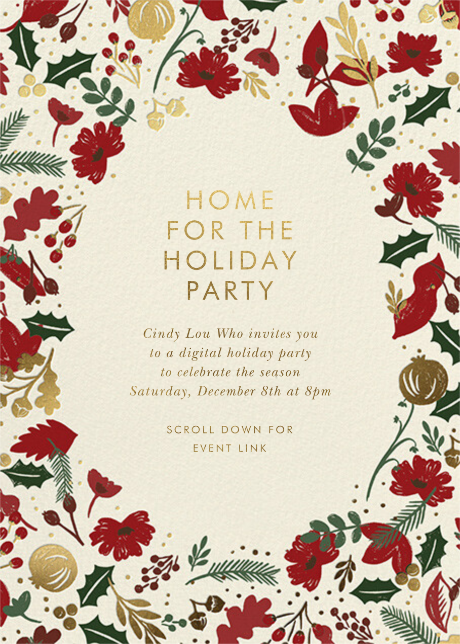 Vintage Christmas - Rifle Paper Co. - Christmas party - card back