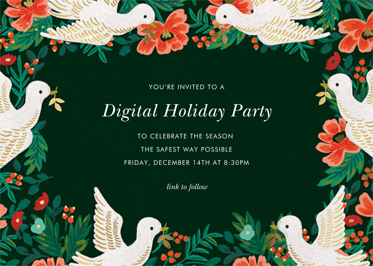 Peace Doves - Rifle Paper Co. - Holiday party