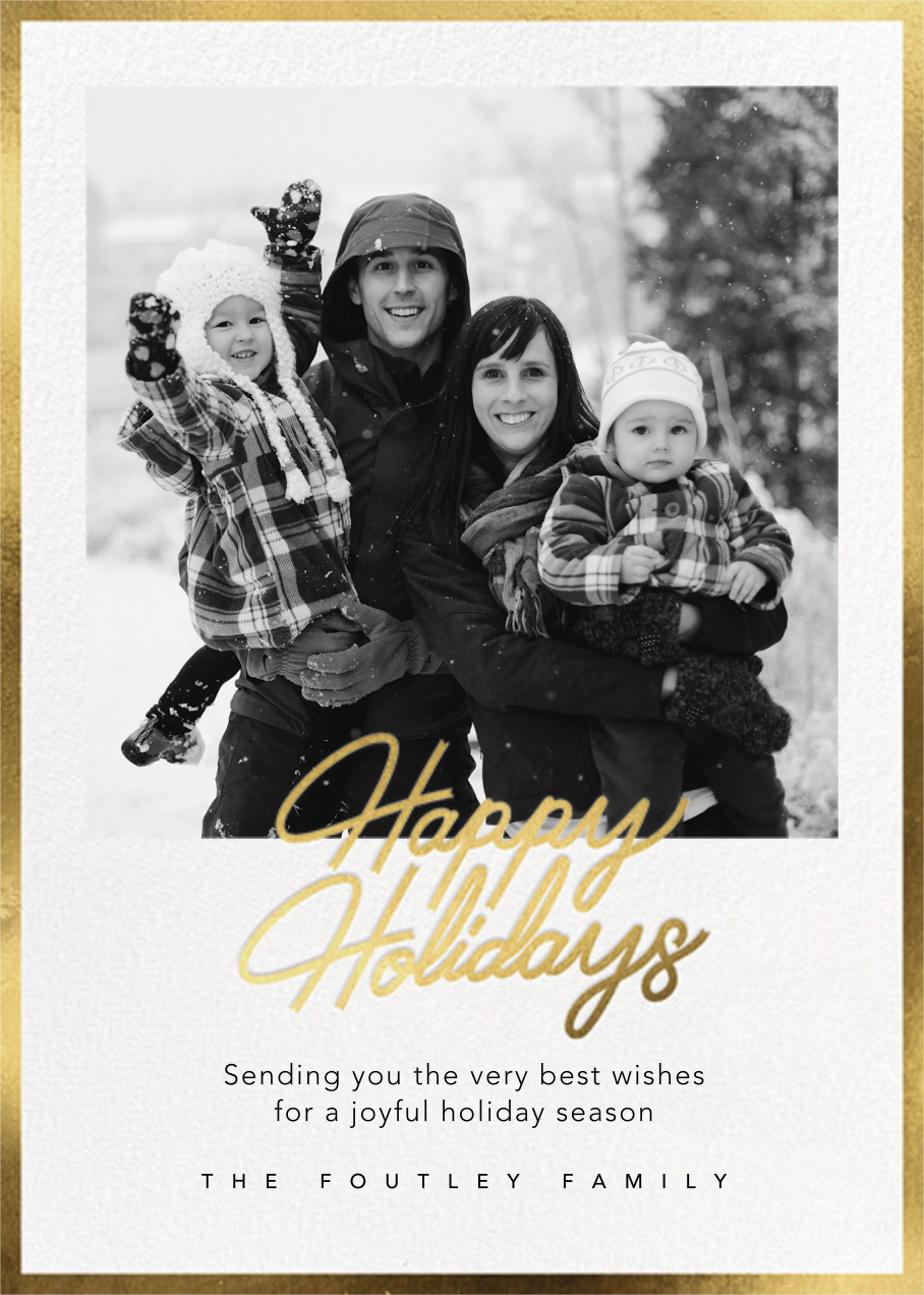 Shiny and New (Holiday) - Gold - Paperless Post