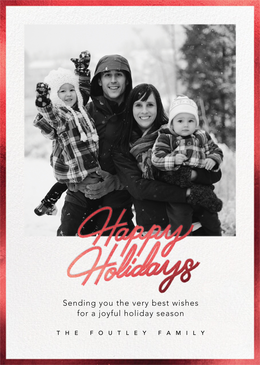Shiny and New (Holiday) - Red - Paperless Post