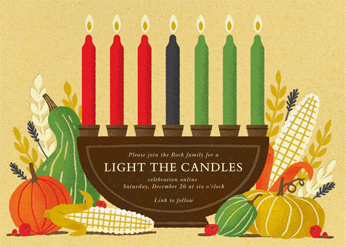 Shared Harvest (Invitation) - Paperless Post - Kwanzaa