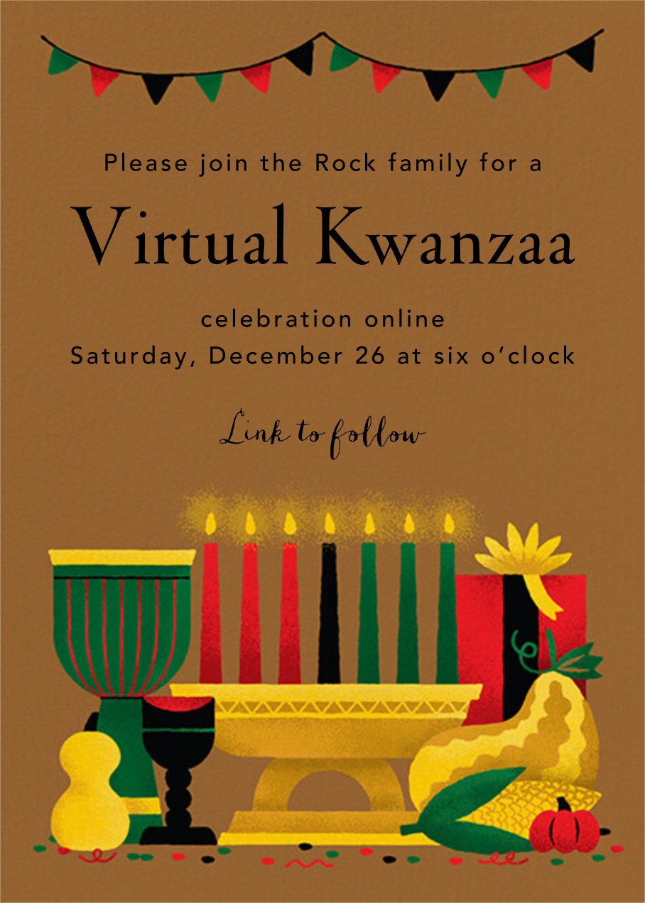 Lit Kinara (Invitation) - Paperless Post - Kwanzaa