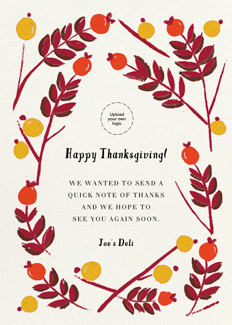 Berry Frame - Flame - Mr. Boddington's Studio - Thanksgiving greetings