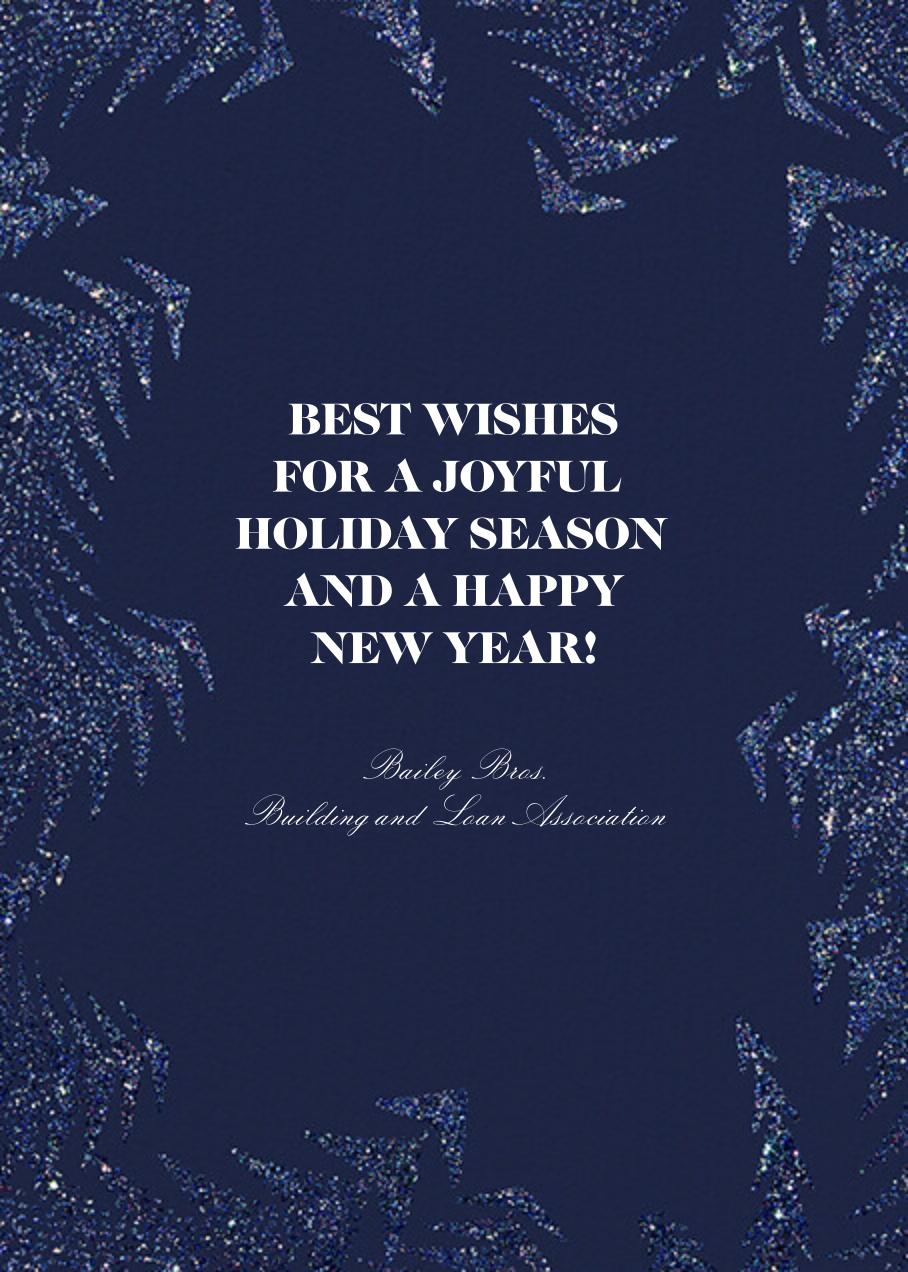 Crystal Pines Christmas (Greeting) - Dark Blue - Paperless Post - Christmas - card back