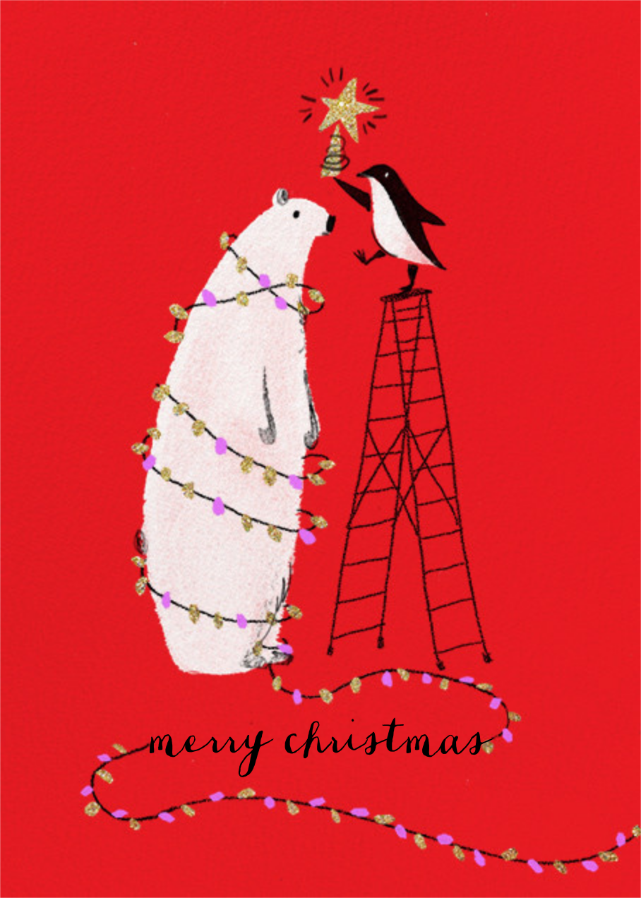 O Tannenbear (Tall) - Christmas - Paperless Post - Christmas