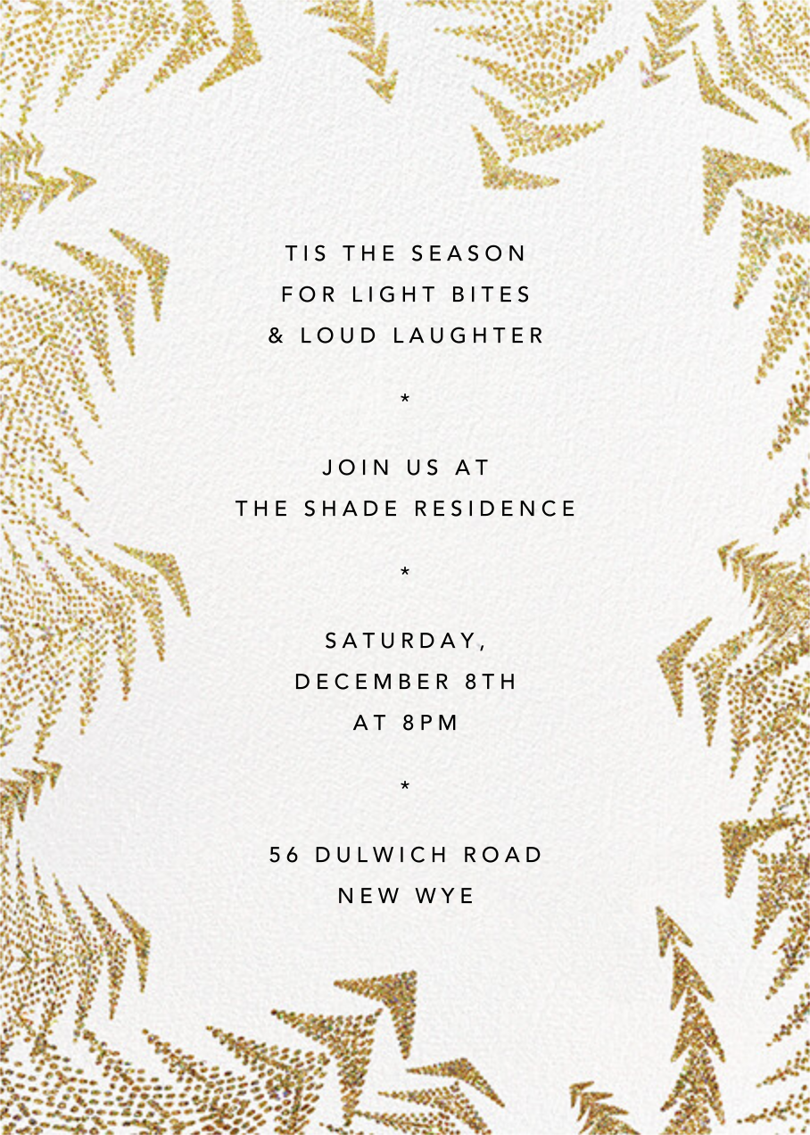 Crystal Pines (Invitation) - Gold - Paperless Post - Christmas party