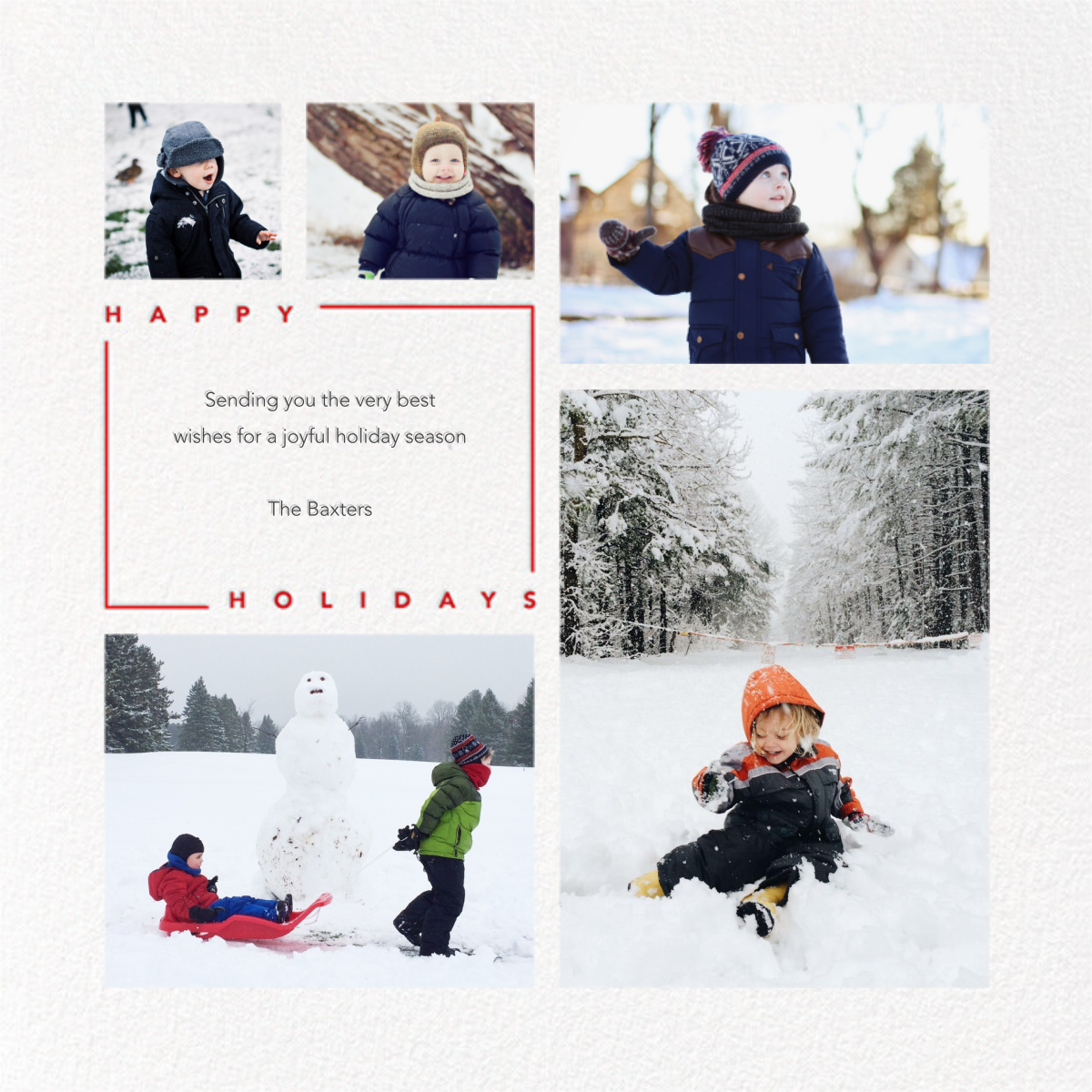 Minimalist Wishes (Square) - Holiday - Paperless Post - Holiday cards