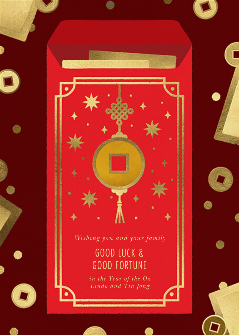Red Envelope - Paperless Post - Lunar New Year