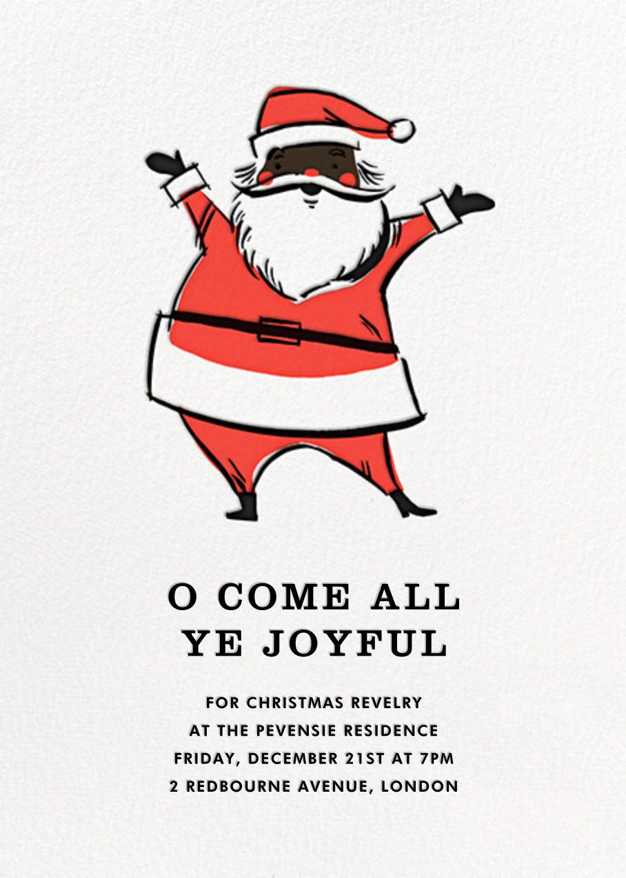 Retro Santa (Invitation) - Deep - Hello!Lucky - Christmas party