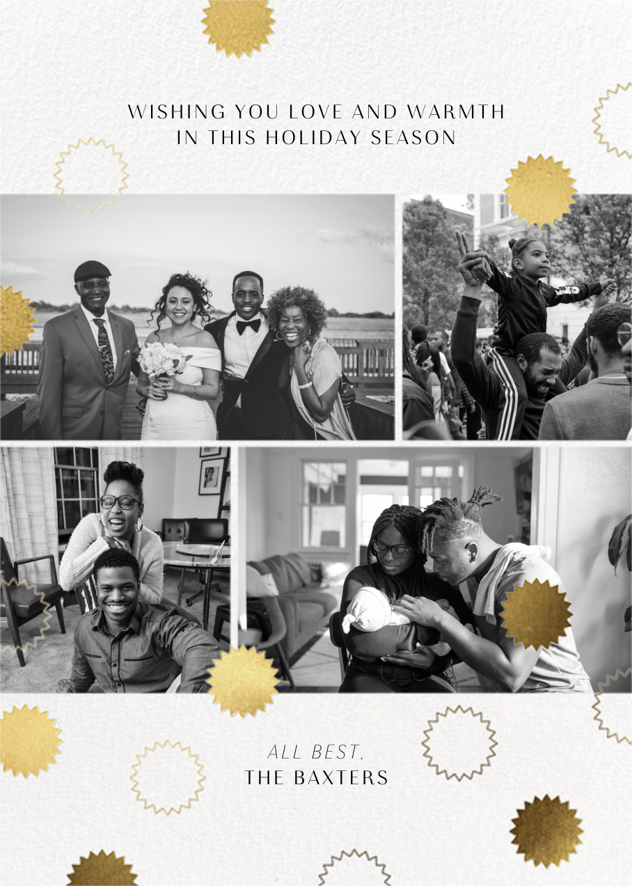 Gold Confetti (Multi-Photo) - Paperless Post - Holiday cards