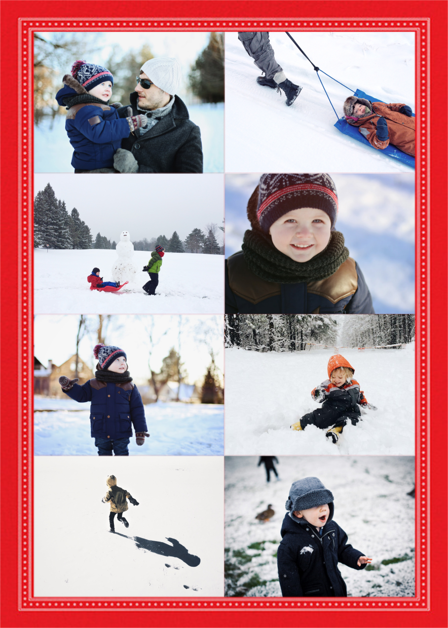 Perle Tall - Red - Paperless Post - Holiday cards