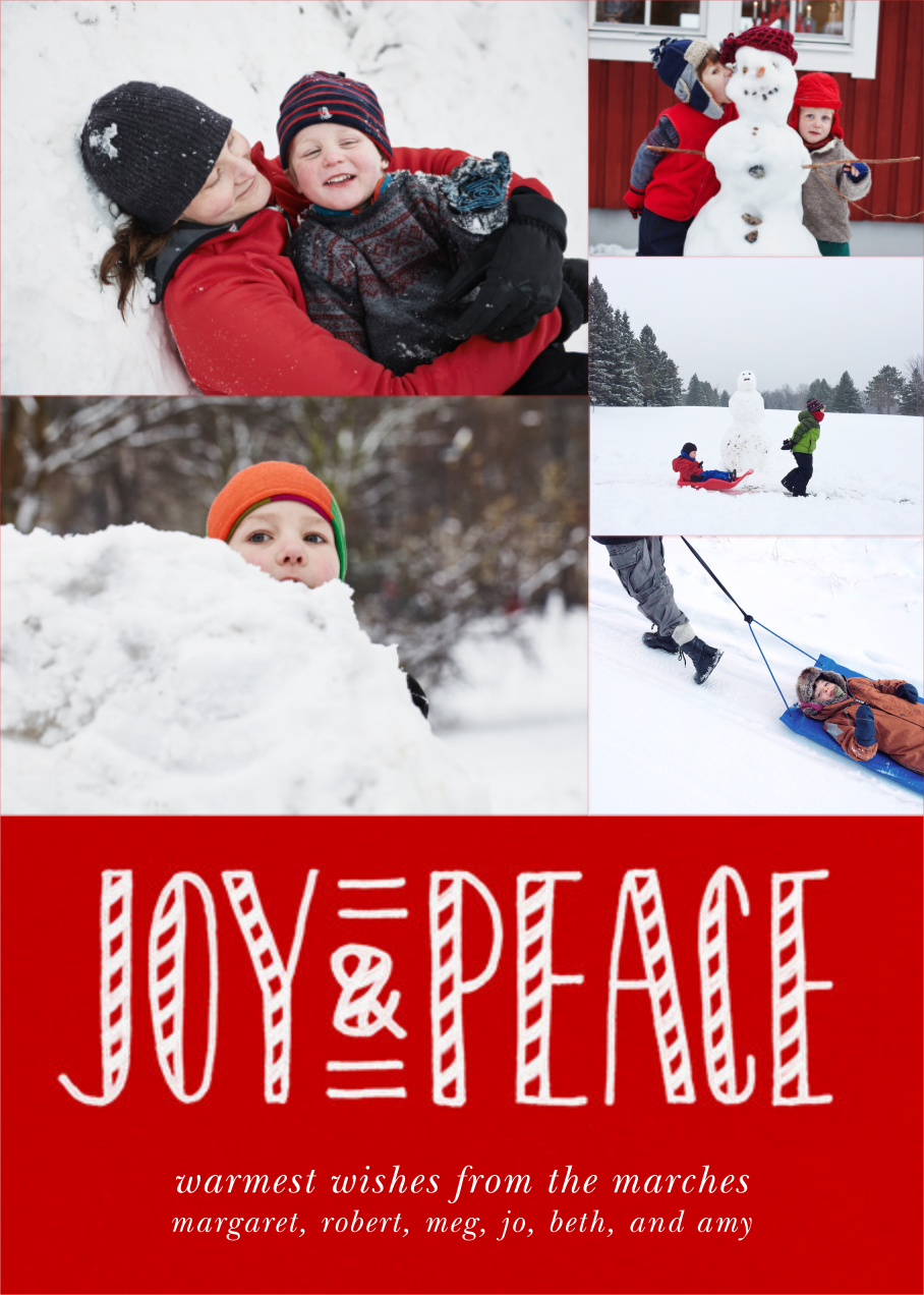 Joy and Candy Canes (Multi-Photo) - Paperless Post