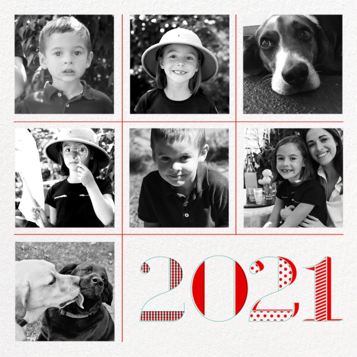 2021 Tic Tac Toe (7 Multi-Photo) - Paperless Post - Holiday cards