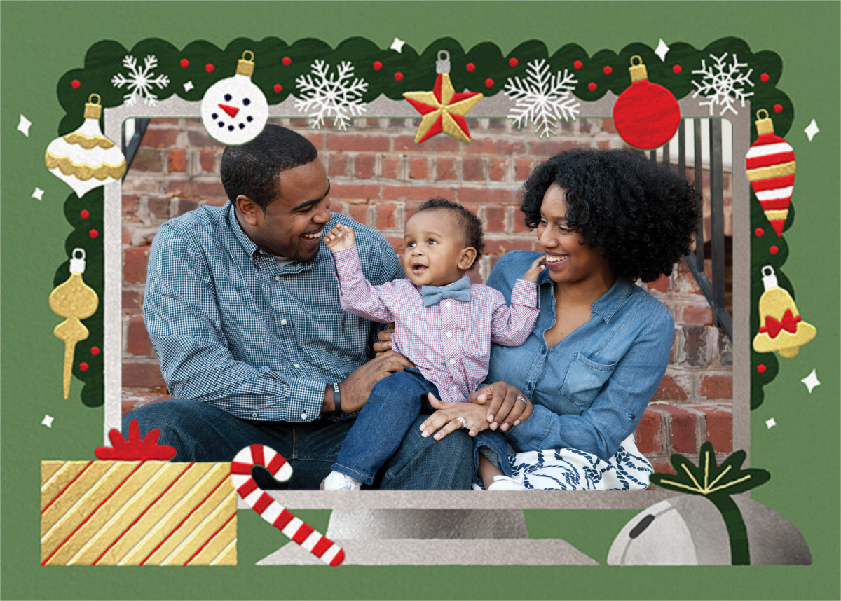Home Screen (Photo) - Green - Paperless Post - Holiday cards