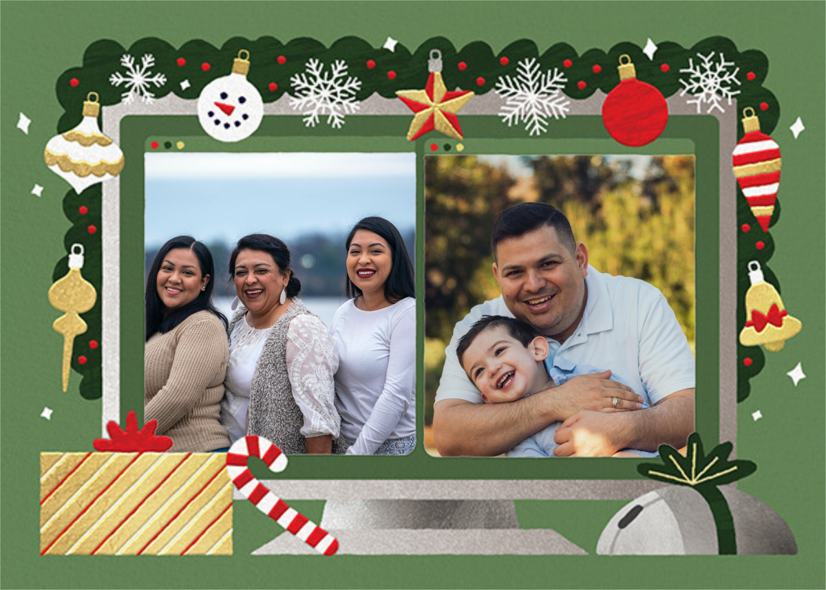 Home Screen (2 Photos) - Green - Paperless Post - Holiday cards