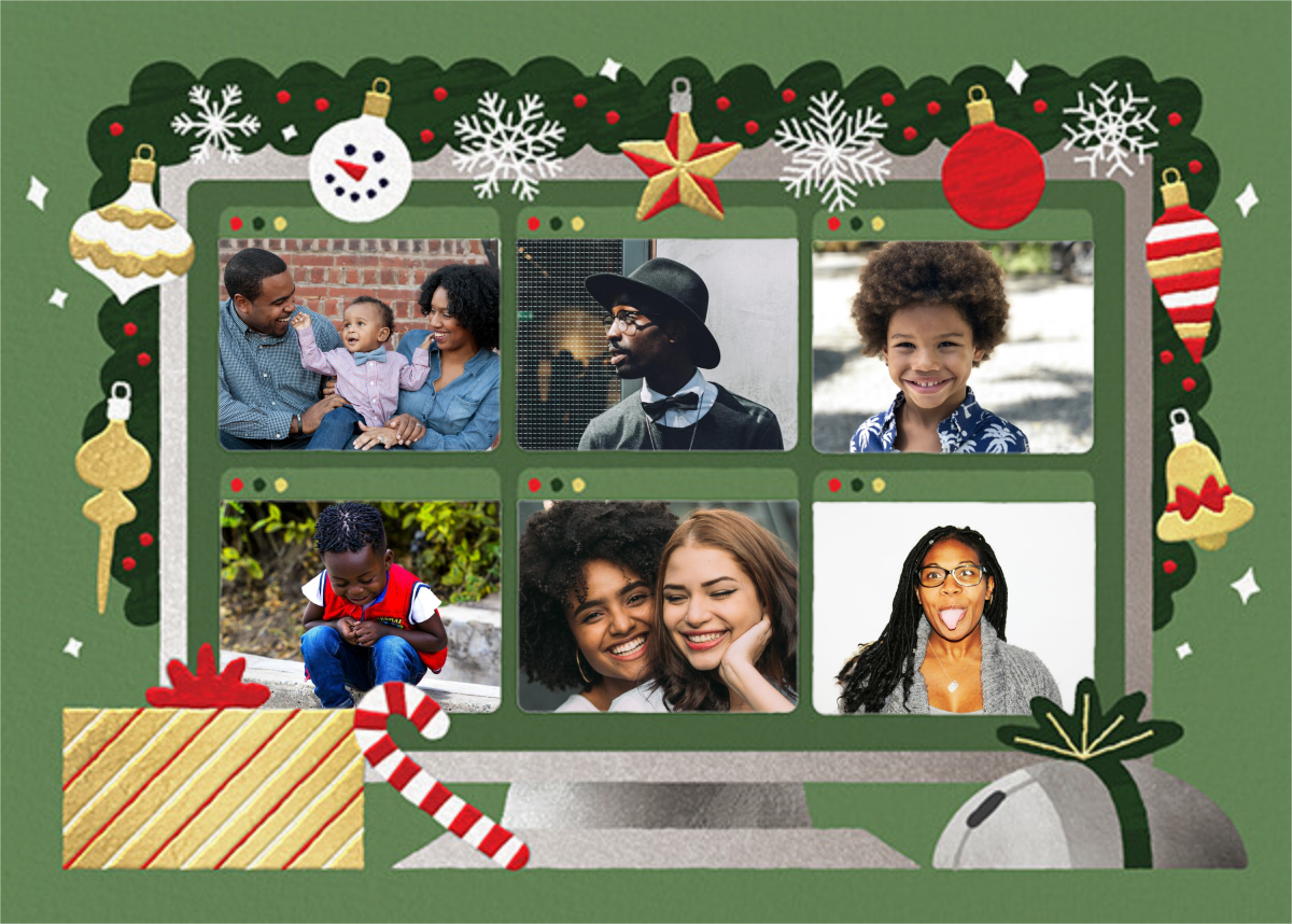 Home Screen (6 Photos) - Green - Paperless Post - Holiday cards