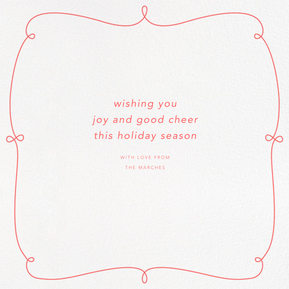 Happy Happy Joy Joy (2 Multi-Photo) - Coral - Paperless Post - Holiday cards - card back
