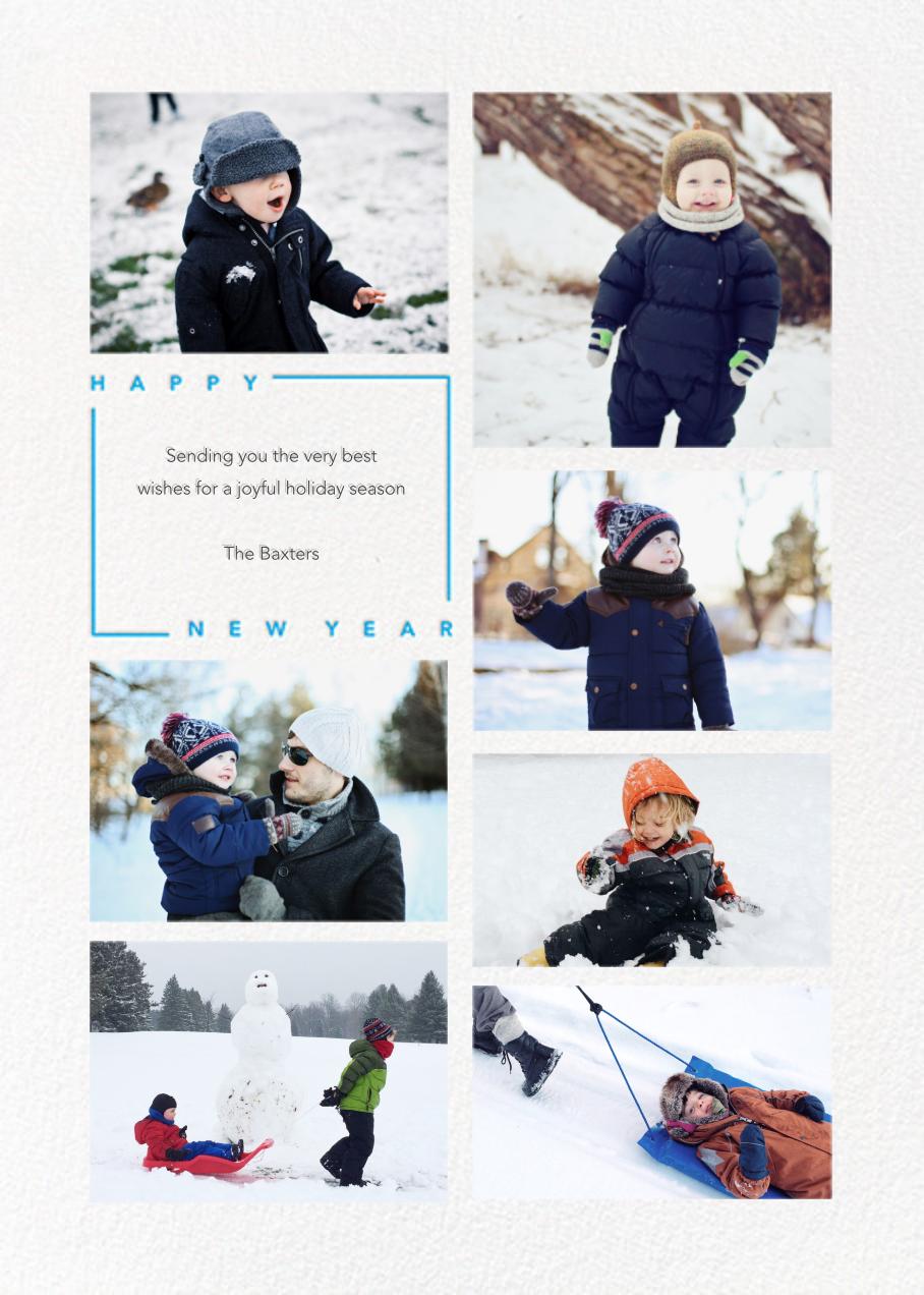 Minimalist New Year (Tall, 7 Photos) - Paperless Post - New Year