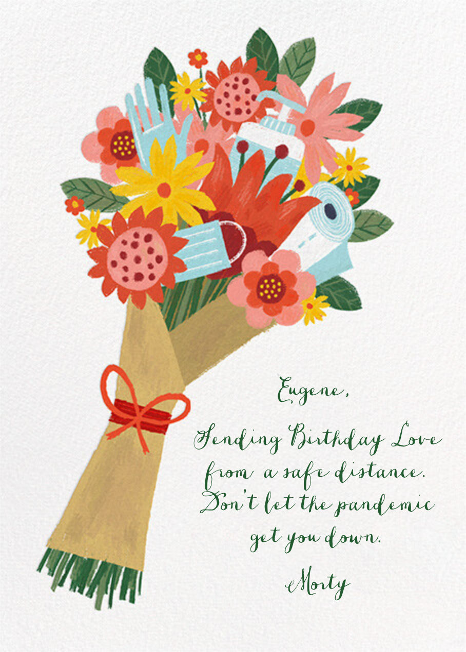 Sanitized Bouquet - White - Paperless Post - Birthday