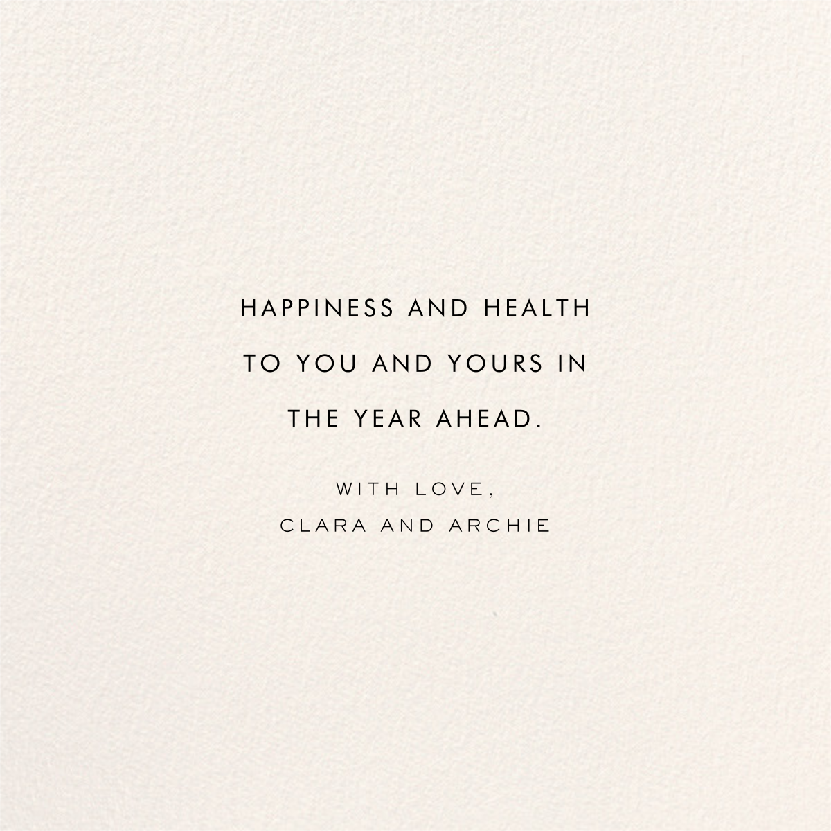 Confetti New Year (Greeting) - Gold/Cream - kate spade new york - New Year - card back