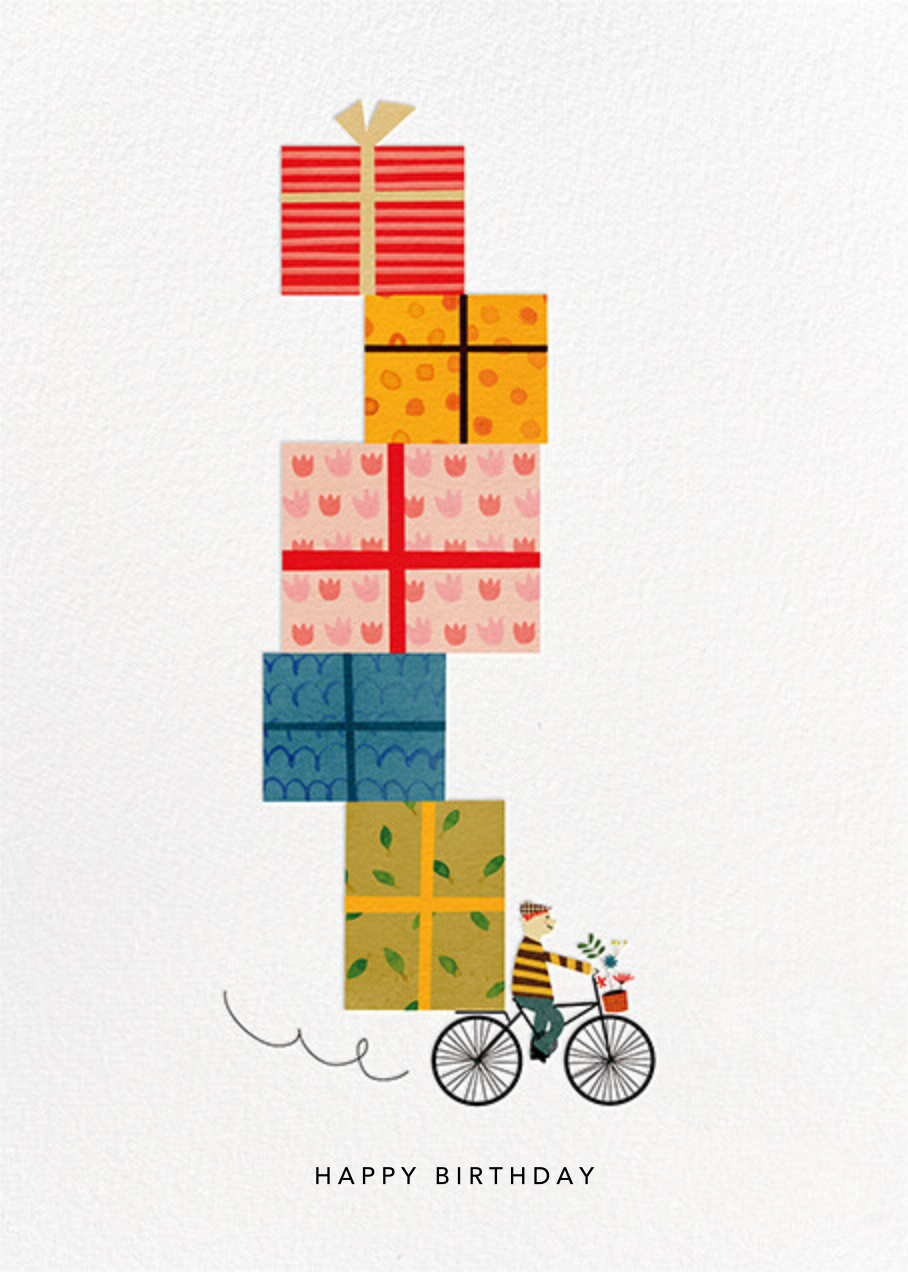 Birthday Bike (Blanca Gómez) - Light - Red Cap Cards