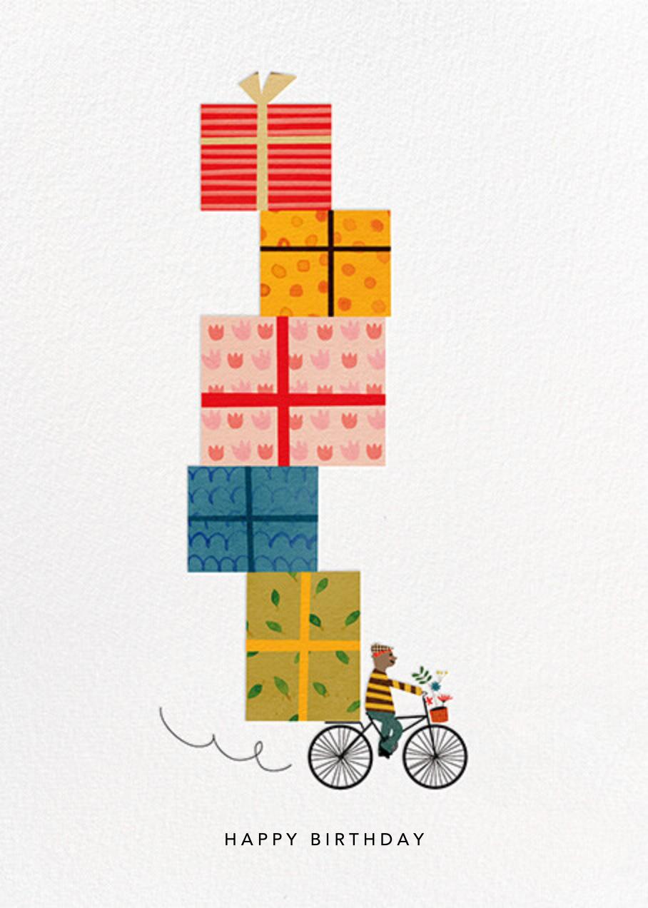 Birthday Bike (Blanca Gómez) - Tan - Red Cap Cards - Birthday