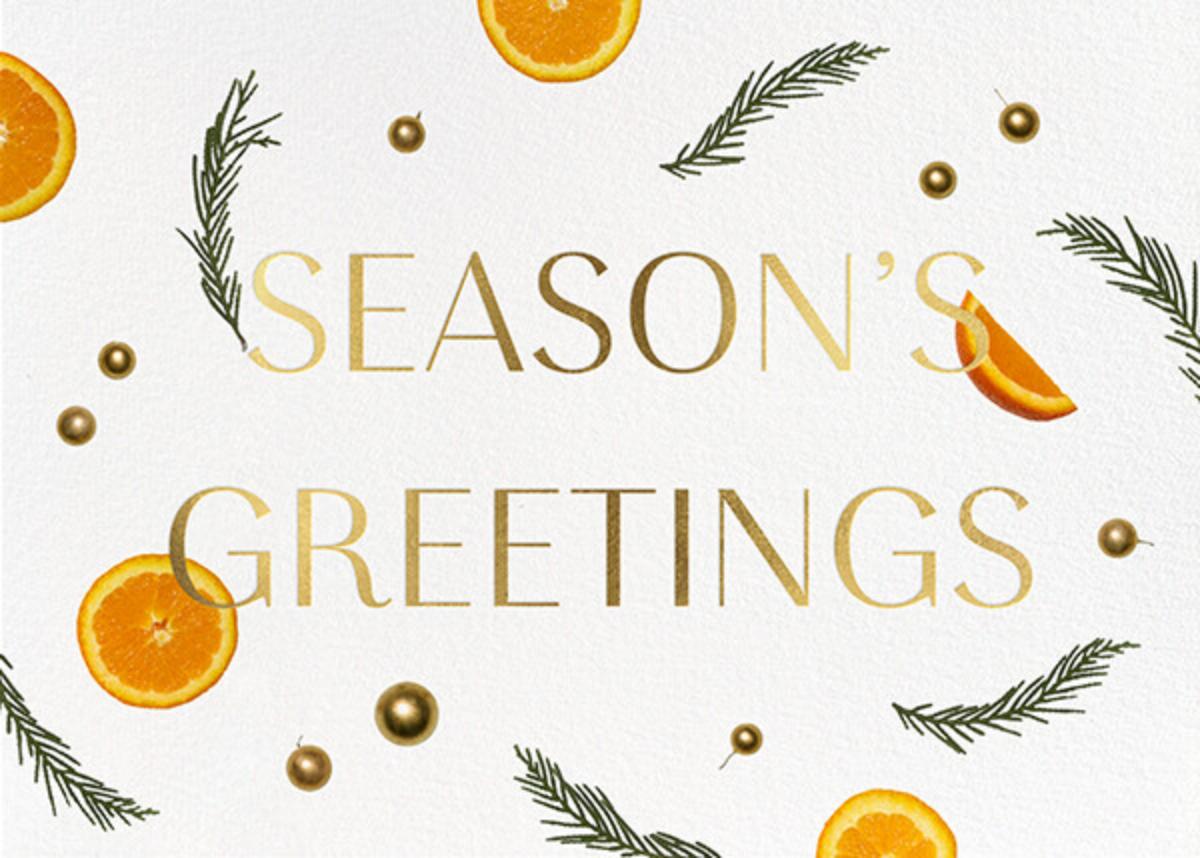 Orange Potpourri - Greetings - Paperless Post - Holiday cards